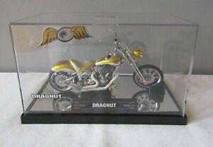Dragnut Von Dutch Kustom Cycles Gold Motorcycle 1:18 Scale w/Case