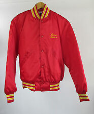 Essex County NY Leathernecks USMC Red Satin Jacket Quilted Lining Made in USA