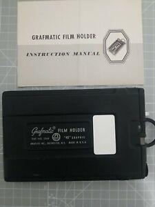 "Graflex Grafmatic ""45"" 4x5 Sheet Film Holder w/ 6 Septums Great Condition"