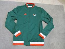 Adidas Miami Hurricane Jacket Adult Extra Small XS Green Football Full Zip Mens