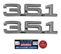 """FORD ZD FAIRLANE """"351"""" ENGINE SIZE FRONT GUARD BADGES SUIT OTHER APPLICATIONS"""