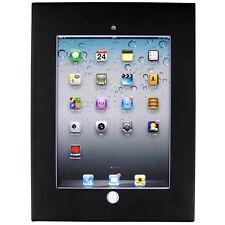Black iPad 2 / 3 / 4 / Air / Air 2 / Pro 9.7 Anti-Theft Secure Enclosure Case