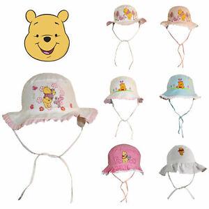 Baby Kinder Sonnenhut Winnie Pooh Fischerhut Disney Sommer Mädchen Strand Ferien