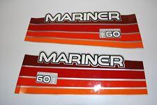 Mariner Outboard Hood Decals 60hp Marathon OEM 37-8263147