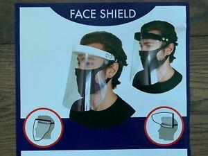 Full Face Virus Shield, Facial Protection, Reusable, Bundle Of 250 Face Shields