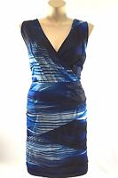 NEW Lane Bryant plus sz 26 white black blue tier layer wrap top sheath dress