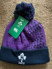 Ireland Rugby Bobble Beanie Hat By Canterbury Brand New With Tags