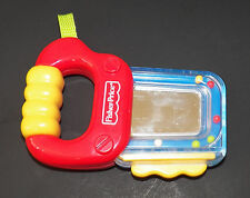 Fisher Price Saw Rattle Baby Toddler Toy Red Blue Tool Mirror