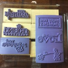 Stampin Up...FOR A FRIEND Rubber Stamp Set 6 Birthday, Friend, Love, Thank You