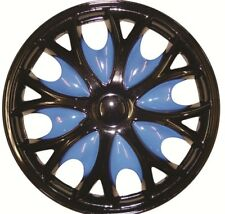 Citroen Saxo 15 Inch Black Blue Wheel Trims (1996-2004)