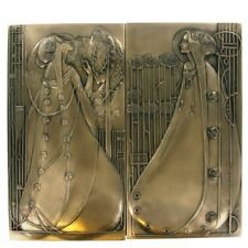 BEAUTIFUL PAIR OF MACKINTOSH STYLE WALL PLAQUE COLD CAST BRONZE WALL ART