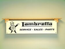 Lambretta Service Parts BANNER vintage retro style Scooter Show Display sign