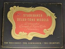 1940 Studebaker Delux-Tone Portfolio Brochure Commander President Champion 40