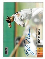 2020 Topps Stadium Club - (Baltimore Orioles) - Autograph - John Means