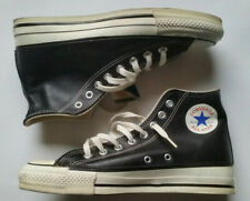 Converse Black Leather - MADE IN USA - Size 8 - Rare - Vintage