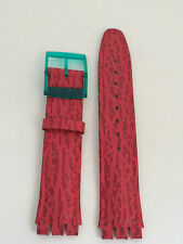 SWATCH CINTURINO WATCH ORIGINAL STRAP BAND UHR RELOJ FUCSIA SCURO  17 MM  SW193