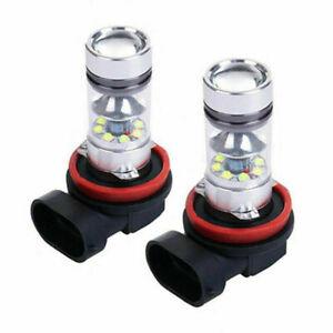 H11 White LED Fog Light Bulbs 100W for BMW 320i 328i 335i 525i 528i 535i xDrive