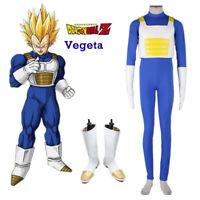Anime Dragonball Z Vegeta Super Saiyan Men Fighting Uniform Suit Boots Cosplay