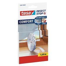 tesa Fliegengitter selbstklebendes Klettband Ersatzrolle, weiß, 5,6m