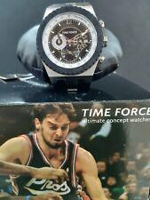 Reloj TIME FORCE Colección PAU GASOL de Acero, Crono. Correa de Caucho y Acero