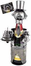BRUBAKER Porte-bouteille de champagne Anniversaire Métal - Carte de vœux incluse