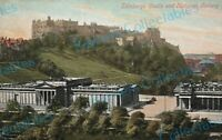 Edinburgh Castle and National Gallery Vintage Postcard - B2/12