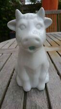 "Ceramic Galzone white milk jug 7"""