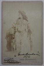 UNBEKANNT (19.Jhd), Autograph: Sarah Bernhardt (1844-1923),  1896, CDV