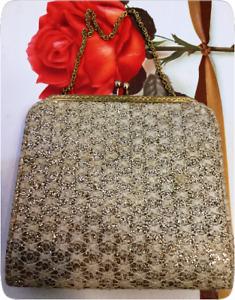 Vintage Evening Bag Purse - English Made - CFR Brand - Circa 1950's