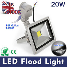 LED PIR 20W Cool white Motion Sensor Outside Home Garden Security light  UK