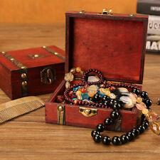 Wood Treasure Box Board Game Storage Box Poker Card Dice Box Tray Jewellery Box