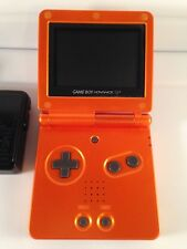 GameBoy Advance SP GBA Game Boy Console System *TORCHIC ORANGE* Pokemon Center