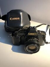 CANON T70 SLR Camera 35mm Kit with Canon FD 50MM 1:1.8 lens Case TESTED GUC
