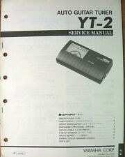 Yamaha YT-2 Auto Guitar Tuner Original Service Manual, Schematics, Parts List