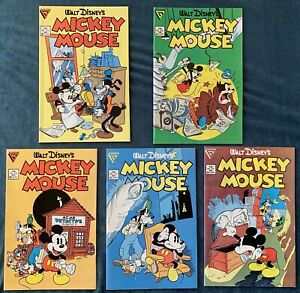 5 Issues Of Mickey Mouse: #219-223  Walt Disney Lot #7