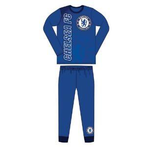 Boys Chelsea FC Pyjamas Kids PJs Nightwear 2 to 12 Years Blue CFC