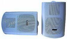 1 Paar 2-Wege Wandlautsprecher Lautsprecher Boxen ADX-6665 weiß mit Halterung
