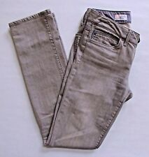 "Gap Real Straight Jeans 25 0 R Gray Slim Mid Rise Stretch Cotton 1969 Denim 32"""