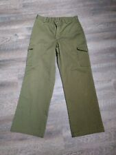 Boy Scouts of America Cargo Style Green Uniform Pants Boys Boy Sz 7 Waist 11