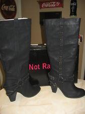 NEW WOMENS NOT RATED EL DORADO BLACK BOOTS IN SIZE 10 - NIB
