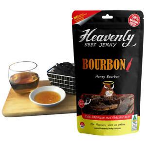 HONEY BOURBON - BOURBON 100% Premium Aust Dried BEEF JERKY - 85g 100g 1kg
