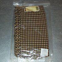 Longaberger Khaki Check CRAFT KEEPER Basket Liner ~ Brand New in Bag!