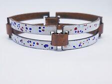 Rebajes mid-century copper enamel bracelet