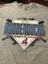 AKRON RUBBERDUCKS T Shirt MEN XXL Grey AA Affiliate Of CLEVELAND INDIANS