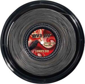 Pro s Pro Devil Spin Tennis Saite 200/m Spule/ schwarz /1,26/mm
