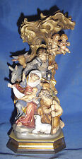 """PEMA Hand-Carved & Painted Wood-Bachthaler Block Nativity Scene-12"""" -Italy- $699"""