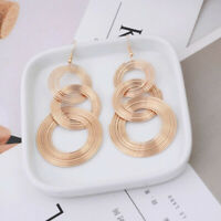 Fashion Vintage Multi-layer Circle Drop Dangle Earrings Statement Jewelry Gif ST