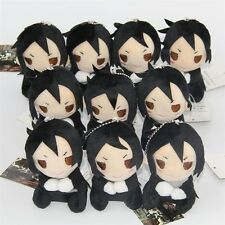 Black Butler Kuroshitsuji Sebastian Michaelis Mini Plush Soft Doll Toy Bag Charm