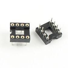120Pcs Pitch 2.54mm Hole 8 Pin DIP Round IC Sockets Adaptor Narrow