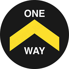 one way system stickers 1 way system stay cov id secure one way sticker 1 way !!